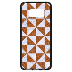 Triangle1 White Marble & Rusted Metal Samsung Galaxy S8 Black Seamless Case
