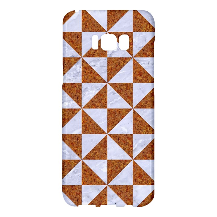 TRIANGLE1 WHITE MARBLE & RUSTED METAL Samsung Galaxy S8 Plus Hardshell Case
