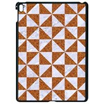 TRIANGLE1 WHITE MARBLE & RUSTED METAL Apple iPad Pro 9.7   Black Seamless Case Front
