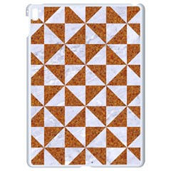 Triangle1 White Marble & Rusted Metal Apple Ipad Pro 9 7   White Seamless Case