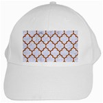 TILE1 WHITE MARBLE & RUSTED METAL (R) White Cap Front