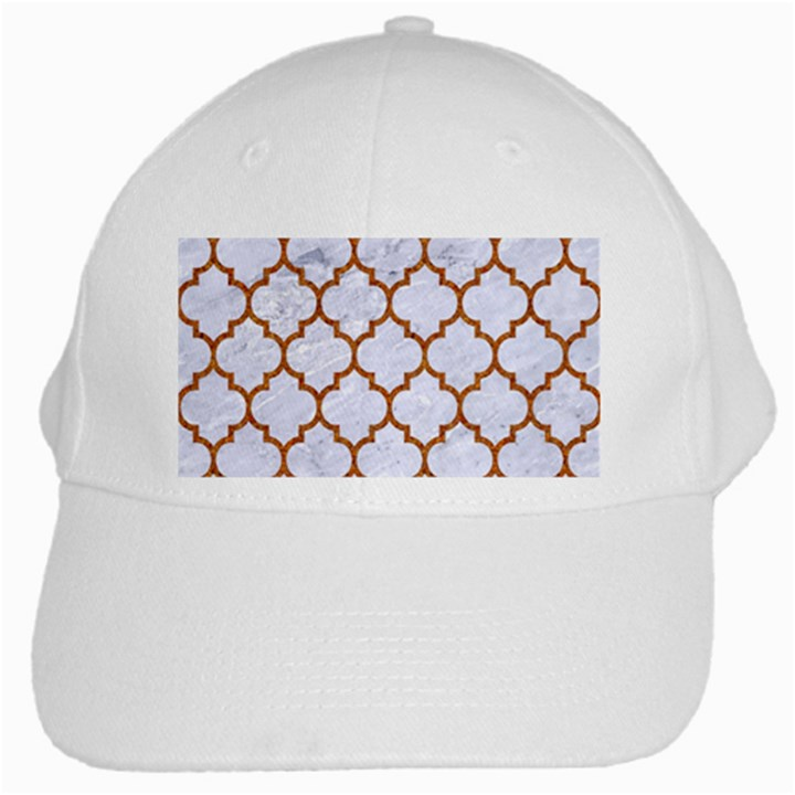 TILE1 WHITE MARBLE & RUSTED METAL (R) White Cap