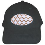 TILE1 WHITE MARBLE & RUSTED METAL (R) Black Cap Front