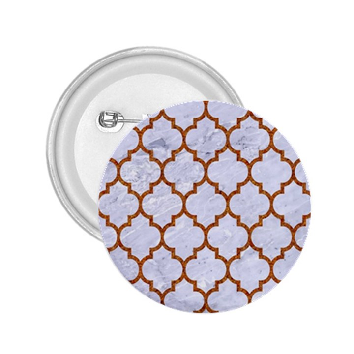 TILE1 WHITE MARBLE & RUSTED METAL (R) 2.25  Buttons