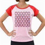 TILE1 WHITE MARBLE & RUSTED METAL (R) Women s Cap Sleeve T-Shirt Front