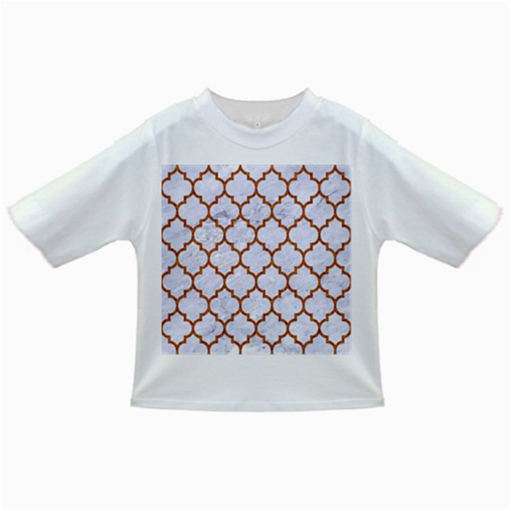 TILE1 WHITE MARBLE & RUSTED METAL (R) Infant/Toddler T-Shirts