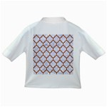 TILE1 WHITE MARBLE & RUSTED METAL (R) Infant/Toddler T-Shirts Back