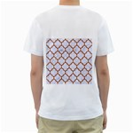 TILE1 WHITE MARBLE & RUSTED METAL (R) Men s T-Shirt (White) (Two Sided) Back