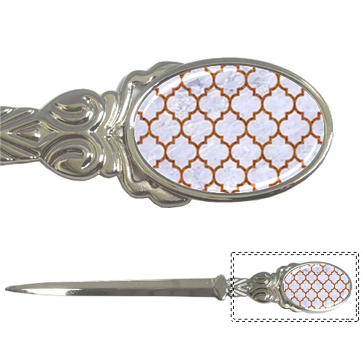 TILE1 WHITE MARBLE & RUSTED METAL (R) Letter Openers