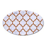 TILE1 WHITE MARBLE & RUSTED METAL (R) Oval Magnet Front