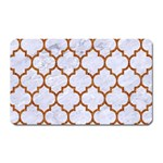 TILE1 WHITE MARBLE & RUSTED METAL (R) Magnet (Rectangular) Front