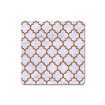 TILE1 WHITE MARBLE & RUSTED METAL (R) Square Magnet Front