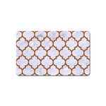 TILE1 WHITE MARBLE & RUSTED METAL (R) Magnet (Name Card) Front