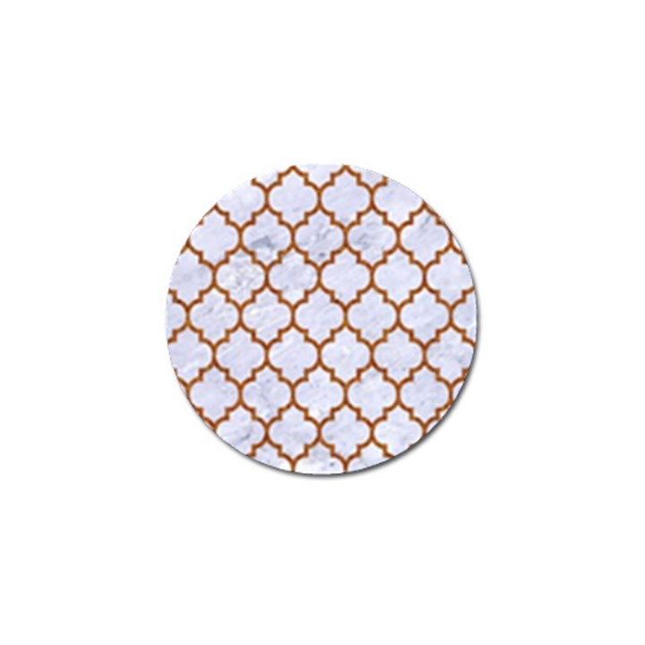 TILE1 WHITE MARBLE & RUSTED METAL (R) Golf Ball Marker (10 pack)