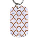 TILE1 WHITE MARBLE & RUSTED METAL (R) Dog Tag (Two Sides) Back