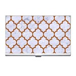 TILE1 WHITE MARBLE & RUSTED METAL (R) Business Card Holders Front