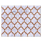 TILE1 WHITE MARBLE & RUSTED METAL (R) Rectangular Jigsaw Puzzl Front