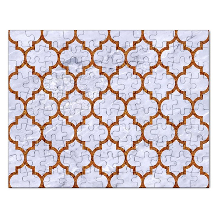 TILE1 WHITE MARBLE & RUSTED METAL (R) Rectangular Jigsaw Puzzl