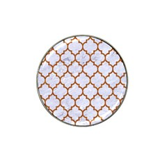 Tile1 White Marble & Rusted Metal (r) Hat Clip Ball Marker