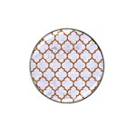 TILE1 WHITE MARBLE & RUSTED METAL (R) Hat Clip Ball Marker (4 pack) Front