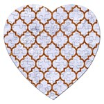 TILE1 WHITE MARBLE & RUSTED METAL (R) Jigsaw Puzzle (Heart) Front