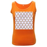 TILE1 WHITE MARBLE & RUSTED METAL (R) Women s Dark Tank Top Front