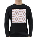 TILE1 WHITE MARBLE & RUSTED METAL (R) Long Sleeve Dark T-Shirts Front