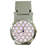 TILE1 WHITE MARBLE & RUSTED METAL (R) Money Clip Watches Front