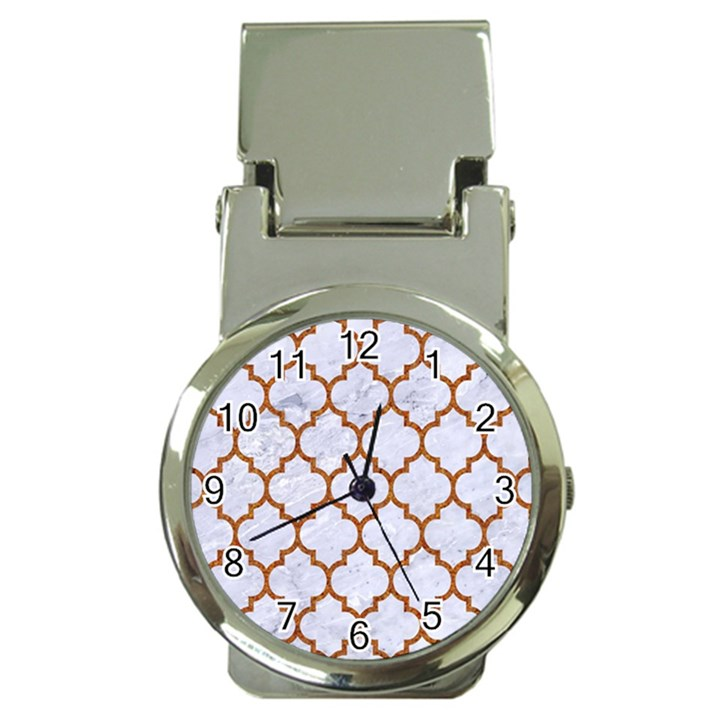 TILE1 WHITE MARBLE & RUSTED METAL (R) Money Clip Watches