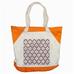TILE1 WHITE MARBLE & RUSTED METAL (R) Accent Tote Bag Front