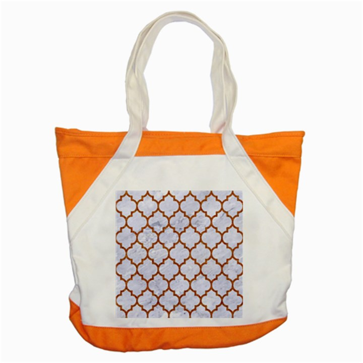 TILE1 WHITE MARBLE & RUSTED METAL (R) Accent Tote Bag