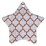 TILE1 WHITE MARBLE & RUSTED METAL (R) Star Ornament (Two Sides) Back