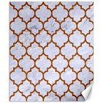 TILE1 WHITE MARBLE & RUSTED METAL (R) Canvas 8  x 10  10.02 x8 Canvas - 1