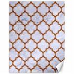 TILE1 WHITE MARBLE & RUSTED METAL (R) Canvas 12  x 16   16 x12 Canvas - 1