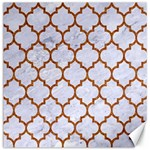 TILE1 WHITE MARBLE & RUSTED METAL (R) Canvas 16  x 16   16 x16 Canvas - 1
