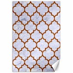 TILE1 WHITE MARBLE & RUSTED METAL (R) Canvas 20  x 30   30 x20 Canvas - 1