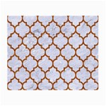 TILE1 WHITE MARBLE & RUSTED METAL (R) Small Glasses Cloth (2-Side) Front