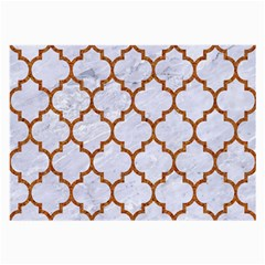 Tile1 White Marble & Rusted Metal (r) Large Glasses Cloth (2 Side)