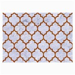 TILE1 WHITE MARBLE & RUSTED METAL (R) Large Glasses Cloth (2-Side) Front