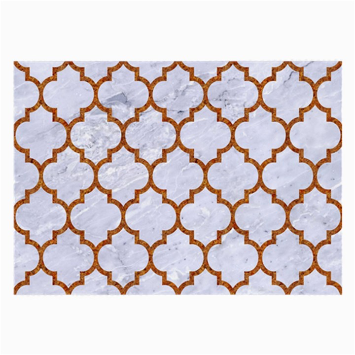 TILE1 WHITE MARBLE & RUSTED METAL (R) Large Glasses Cloth (2-Side)