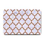 TILE1 WHITE MARBLE & RUSTED METAL (R) Small Doormat  24 x16 Door Mat - 1