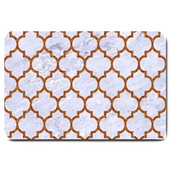 Tile1 White Marble & Rusted Metal (r) Large Doormat