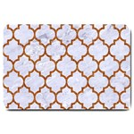 TILE1 WHITE MARBLE & RUSTED METAL (R) Large Doormat  30 x20 Door Mat - 1