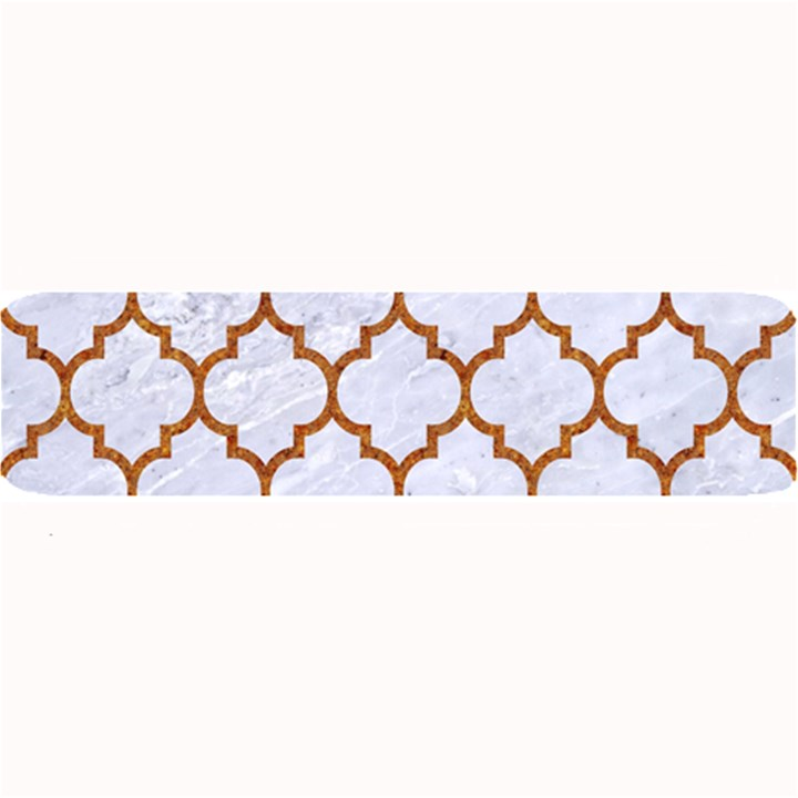 TILE1 WHITE MARBLE & RUSTED METAL (R) Large Bar Mats