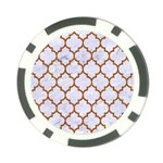 TILE1 WHITE MARBLE & RUSTED METAL (R) Poker Chip Card Guard Front