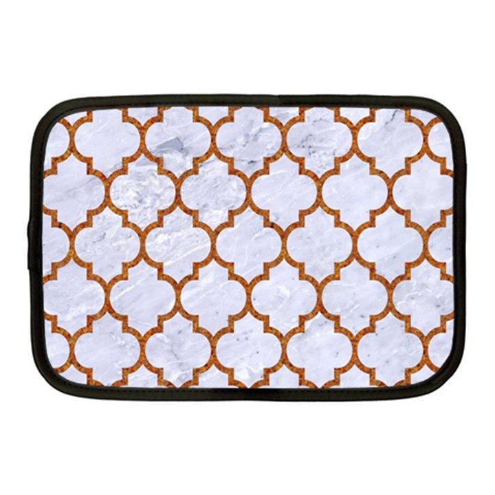 TILE1 WHITE MARBLE & RUSTED METAL (R) Netbook Case (Medium)