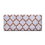 TILE1 WHITE MARBLE & RUSTED METAL (R) Cosmetic Storage Cases Front