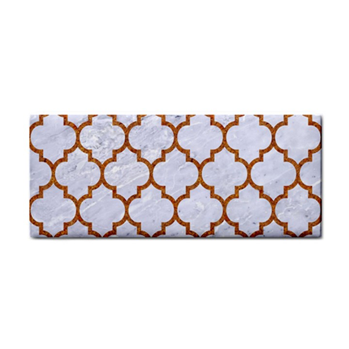 TILE1 WHITE MARBLE & RUSTED METAL (R) Cosmetic Storage Cases