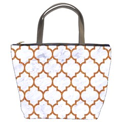 Tile1 White Marble & Rusted Metal (r) Bucket Bags