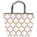 TILE1 WHITE MARBLE & RUSTED METAL (R) Bucket Bags Front